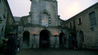 Outlander S2 - Entrance to Maison de Elise - Stables Courtyard
