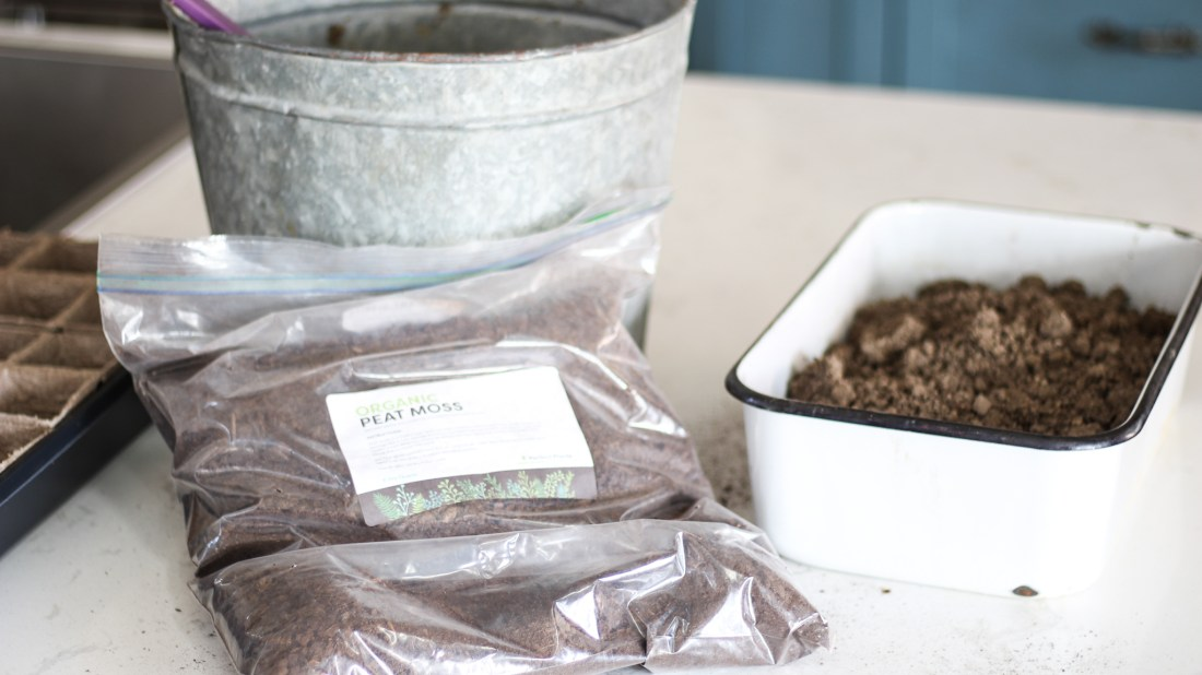 how to make organic seed starting mix with peat moss for cheap