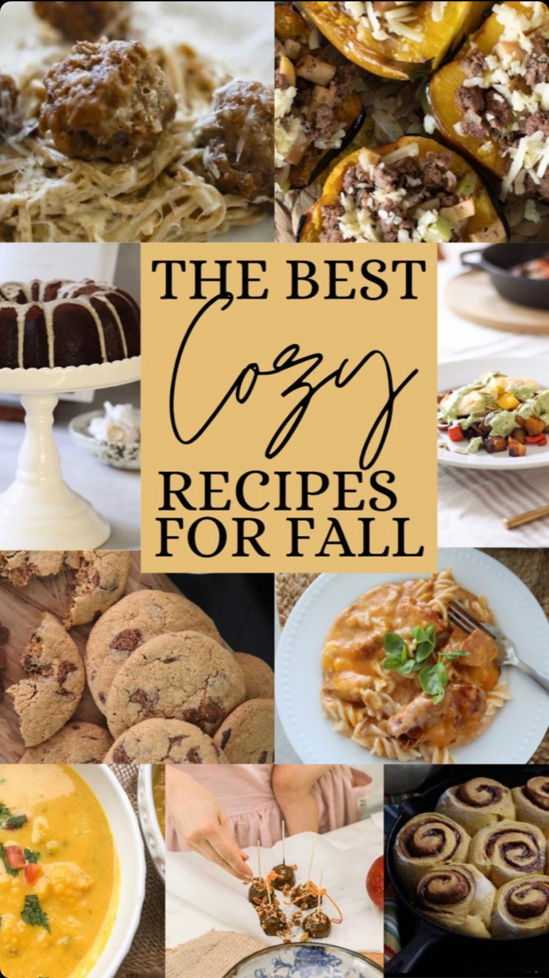 warm cozy fall recipes