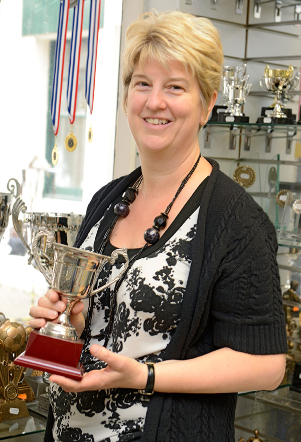 Lisa Ricketts, Proprietor of Hopmarket Trophies
