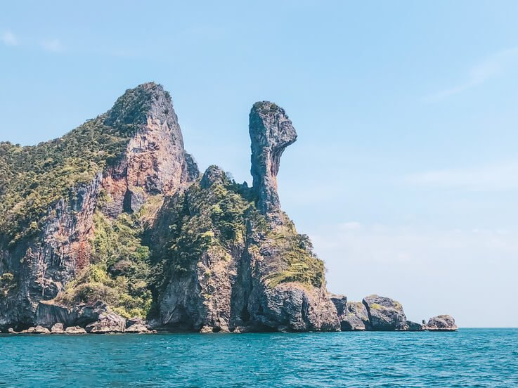 Joining a island hopping tour to Chicken Island is a fun thing to do while in Ao Nang