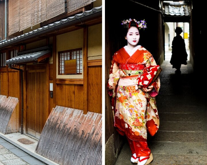 Kyoto's traditional area, Gion is a highlight on any 2 day Kyoto itinerary.