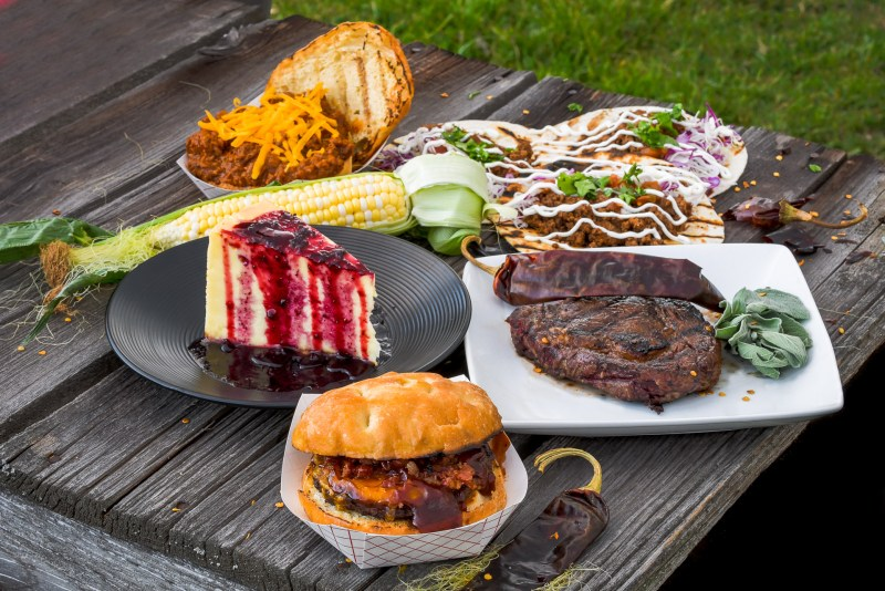 All the food from the shoot with Bitterroot Bison