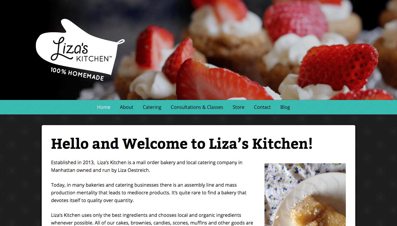 Hoppel Design website for Liza's Kitchen
