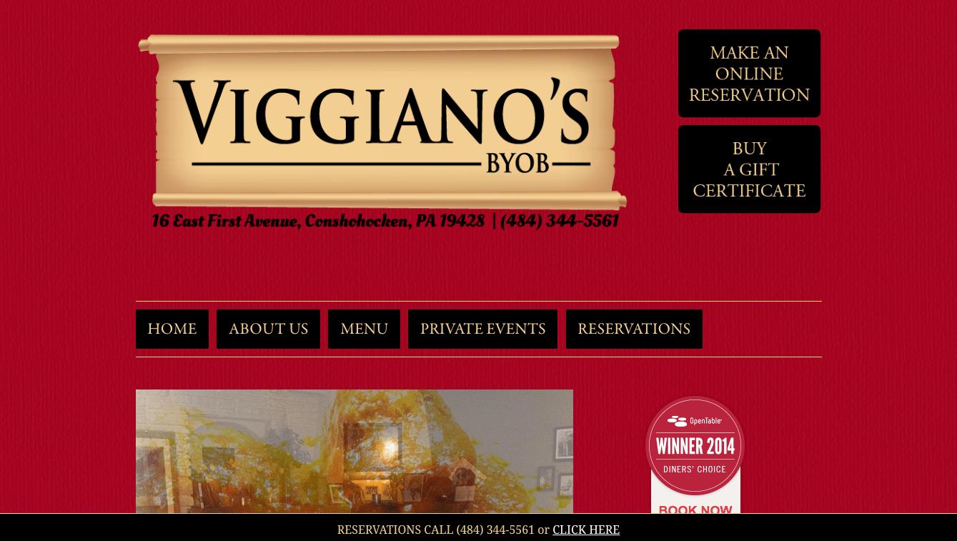 Hoppel Design website for Viggiano's BYOB