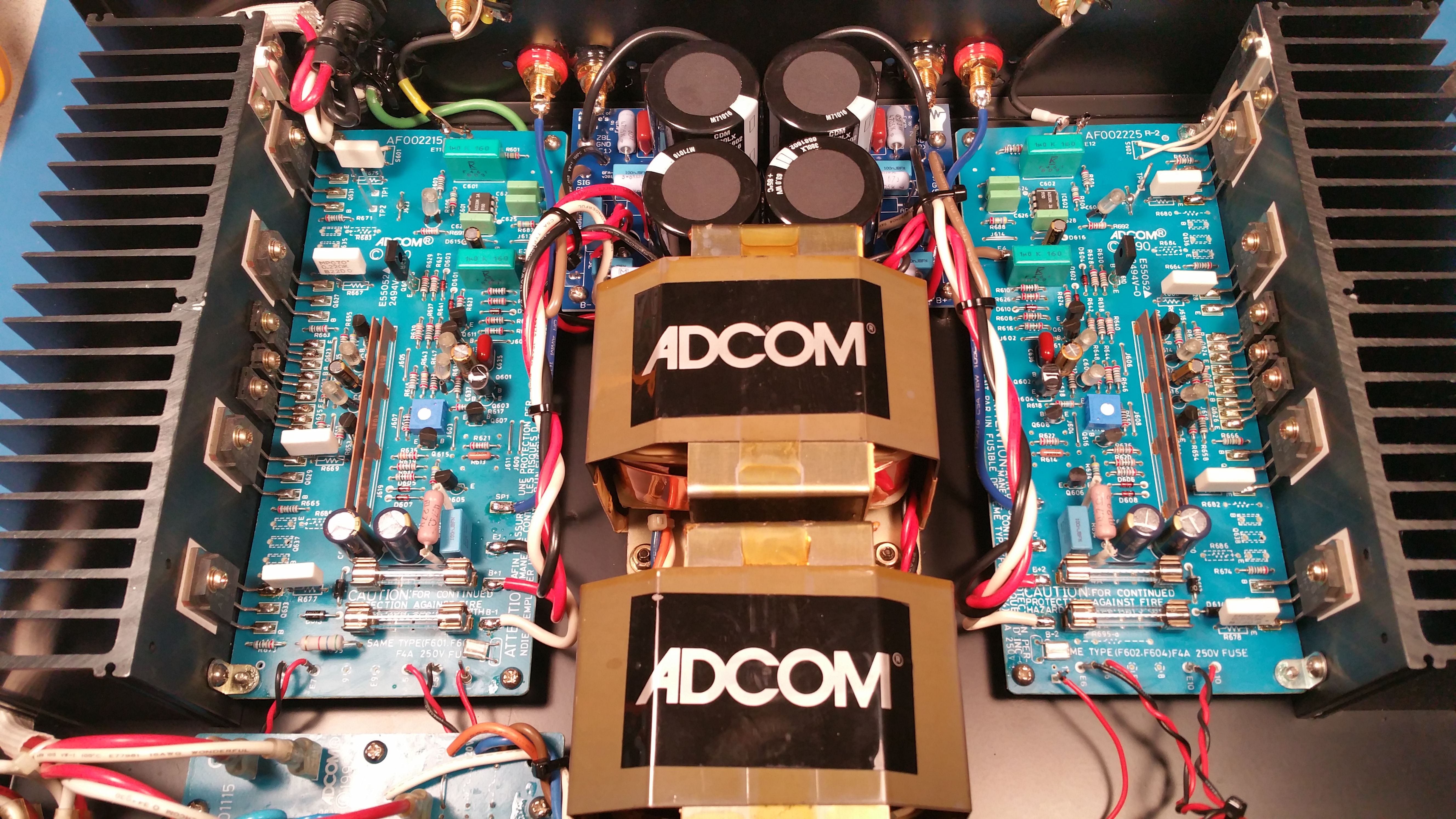 Classic Adcom Service Repair And Restoration Madison Wi Amplifier Wiring Kit With Capacitor Audiophile Upgrade Packages For The Gfa 535 545 555 Feature Newly Designed Power Supply Circuit Boards Many Improvements Over Stock