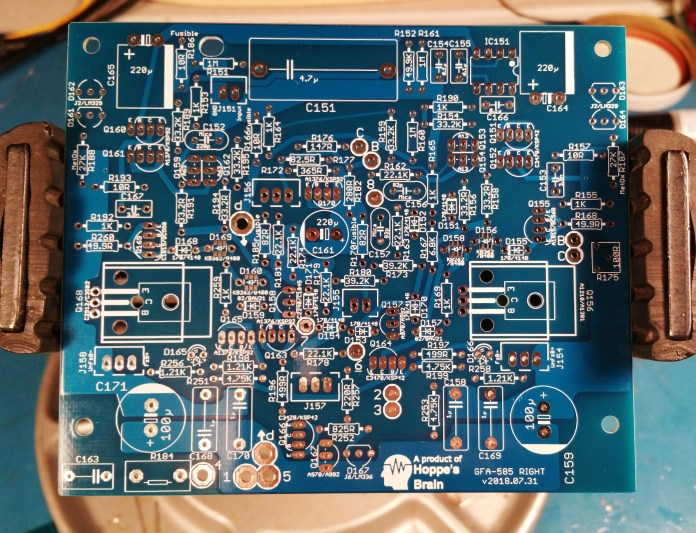 GFA-585 input circuit board right