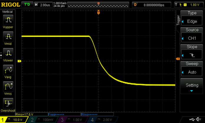 GFA-585 40V P-P Square Wave 2us_div falling