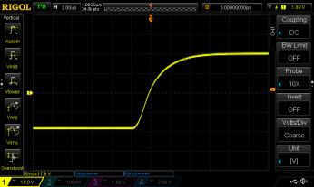 GFA-585 40V P-P Square Wave 2us_div rising
