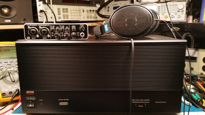 Adcom GFA-585 headphone amp