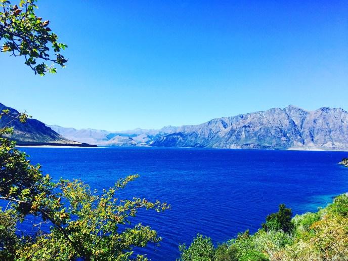 Deep blue lake Wanaka