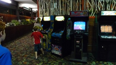 One of the most enjoyable things about Breezy Point Resort is they have a large collection of vintage arcade video games just inside the Coffee House entrance.
