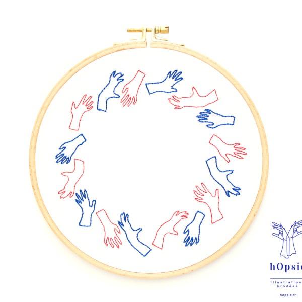 Broderie / Le cercle de mains