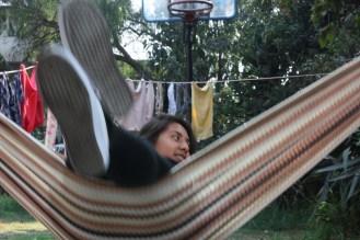 Yoalli, hanging in the hammock