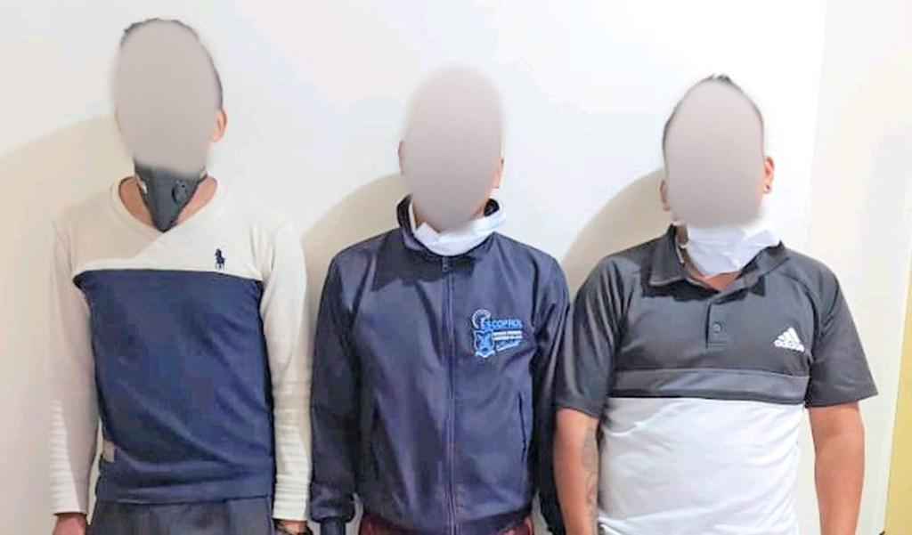 Los tres ciudadanos fueron detenidos por la Policía de Antinarcóticos el martes 1 de septiembre de 2020.