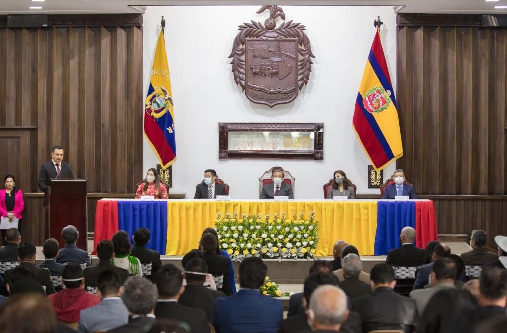 La sesión solemne se llevó a cabo este martes 8 de diciembre en la mañana. (Foto: Municipio de Loja)