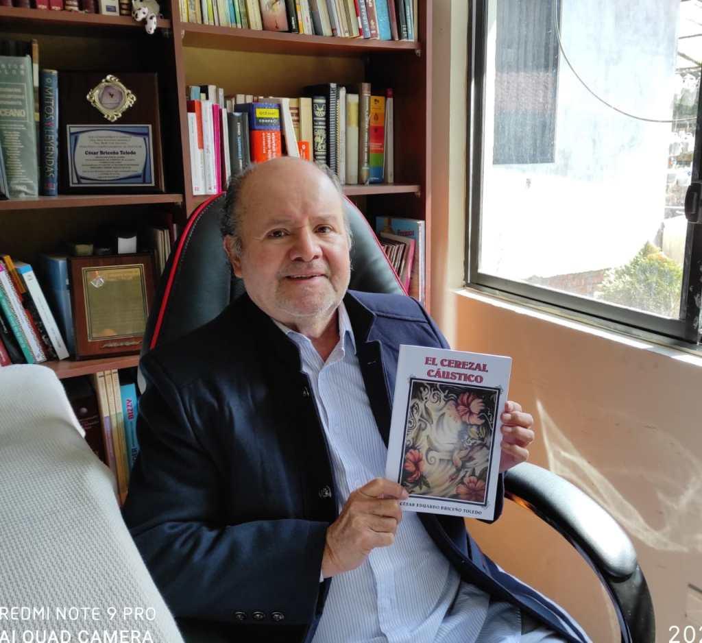 Cesar Briceño Toledo es el autor de los 16 relatos que constan en el ejemplar.