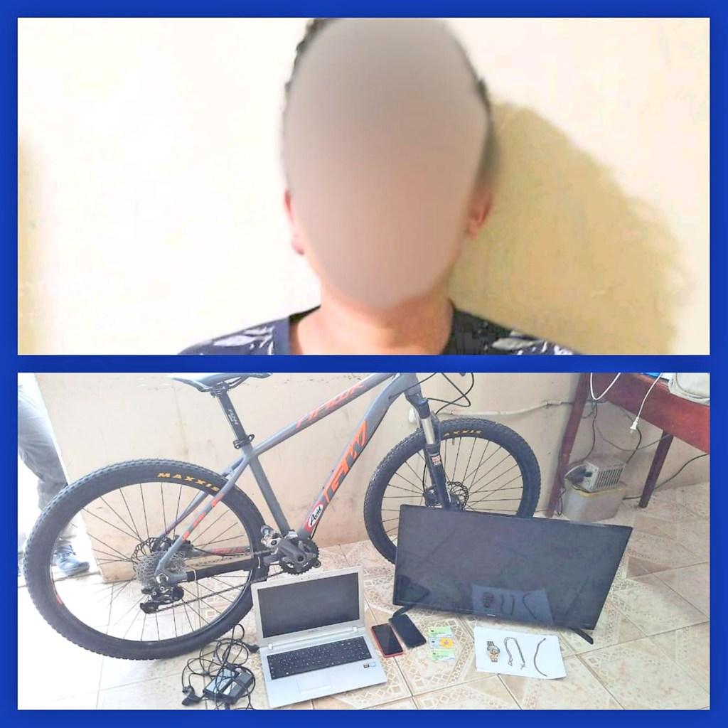 En poder del ciudadano se encontró otros objetos que fueron robados el último domingo.