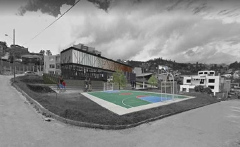 Un modelo del moderno Centro, a construirse en el barrio San Cayetano Bajo.