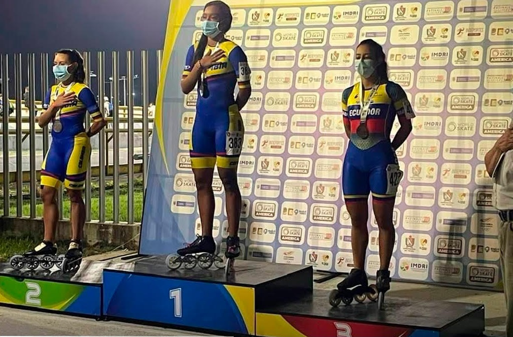 En el podio estuvo la deportista de los registros de la FedeLoja.