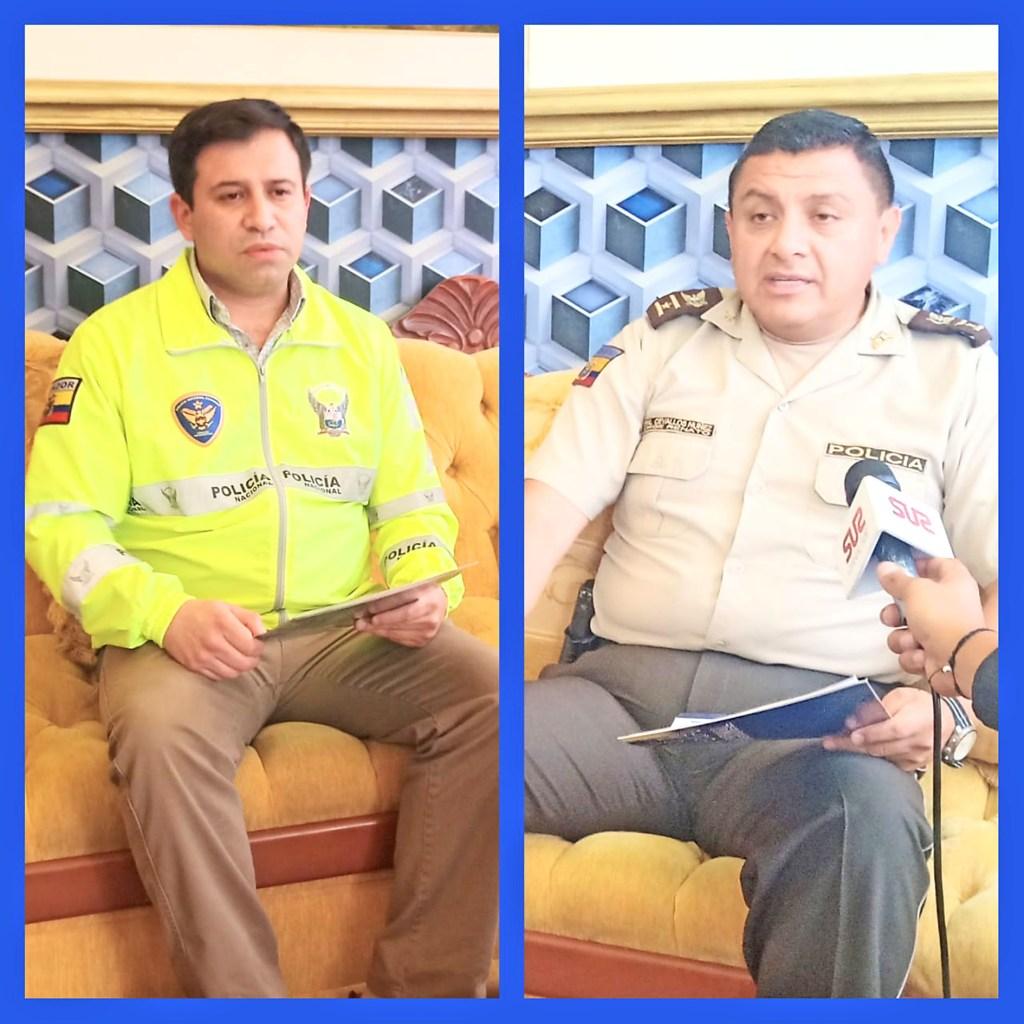 Renato Cevallos Núñez (der.) y Christian García Correa intervinieron en la conferencia de prensa de ayer.