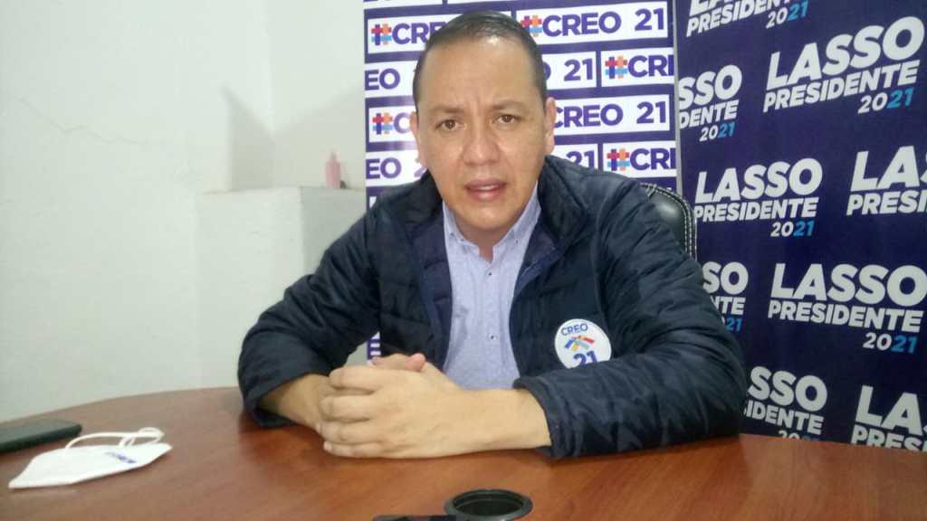 José Vicente Córdova Machado, gerente de campaña del movimiento CREO-Loja.