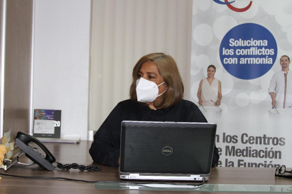 Mercedes Reyes Jaramillo es la coordinadora de la Oficina de Mediación de Loja.
