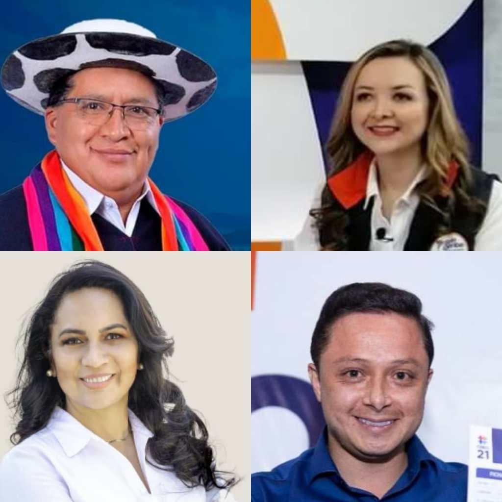 Manuel Medina, Johanna Ortiz, Lucía Placencia y Byron Maldonado se posesionarán como asambleístas el 14 de mayo.