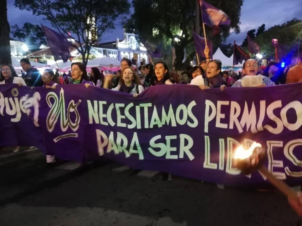 La marcha por el 8 de marzo es una actividad que se cumple todos los años en Loja. (Foto cortesía de Trudy Román)