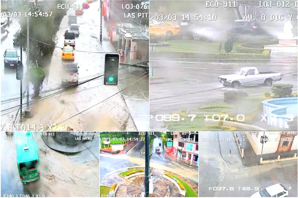 Las cámaras de vídeovigilancia monitorean los lugares en donde la lluvia hizo estragos.