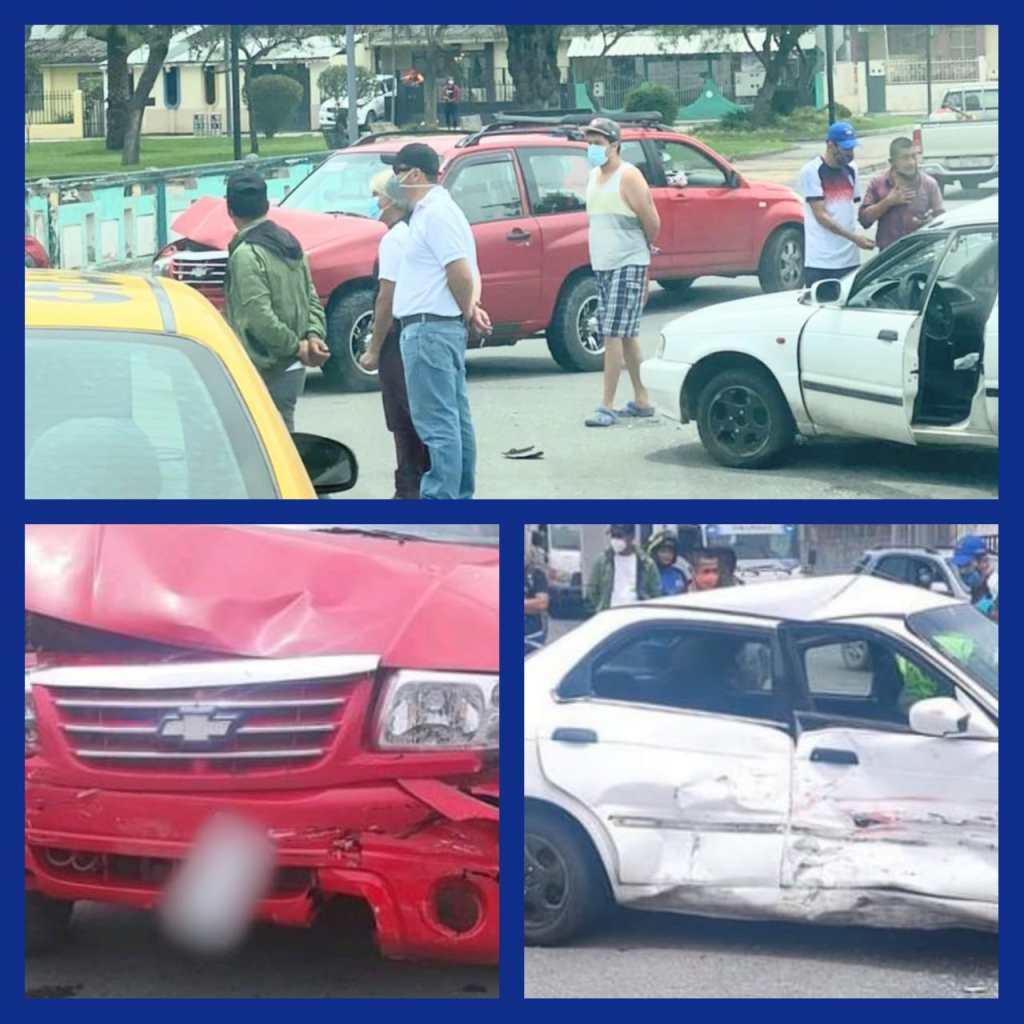 El percance ocurrió en la esquina de la avenida Manuel Agustín Aguirre y calle Chile.
