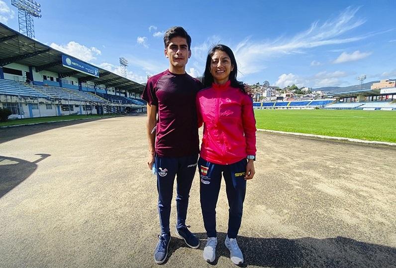 Jordy Jiménez y Maritza Guamán se preparan para otras citas deportivas.