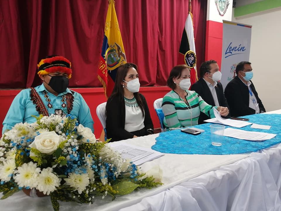 Monserrat Creamer Guillén cumplió actividades en el cantón Saraguro, este martes 13 de abril.