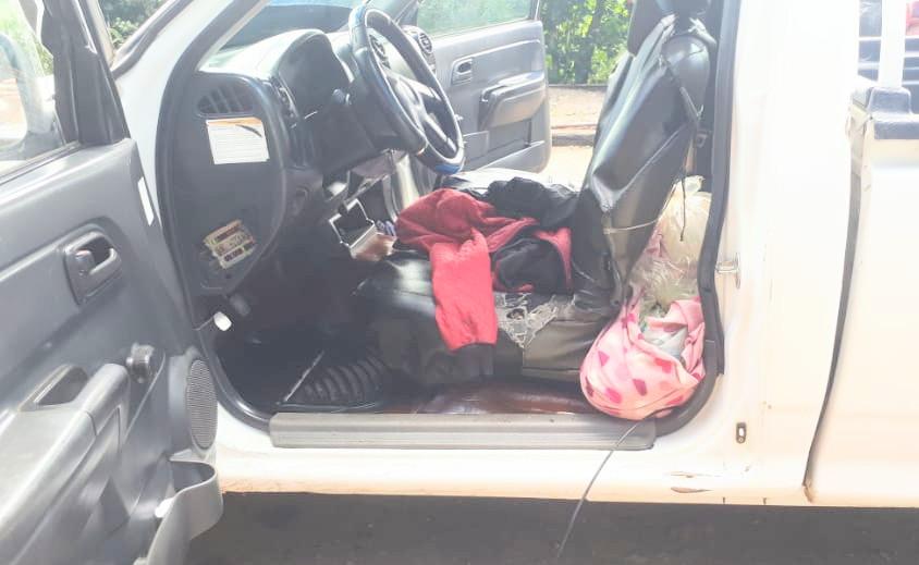 El ciudadano habría intentado desaparecer la evidencia que llevaba en la cabina del vehículo.