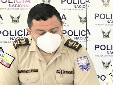 Renato Cevallos Núñez, comandante de la Policía de Loja.
