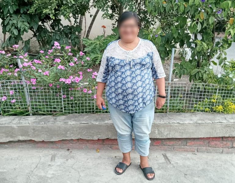 María Virginia se encuentra en las instalaciones de la Fundación Pablo II, en Catamayo, donde se la ve bastante recuperada.