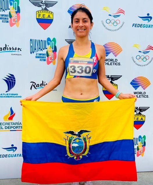 Maritza Guamán subió al último podio en Guayaquil.