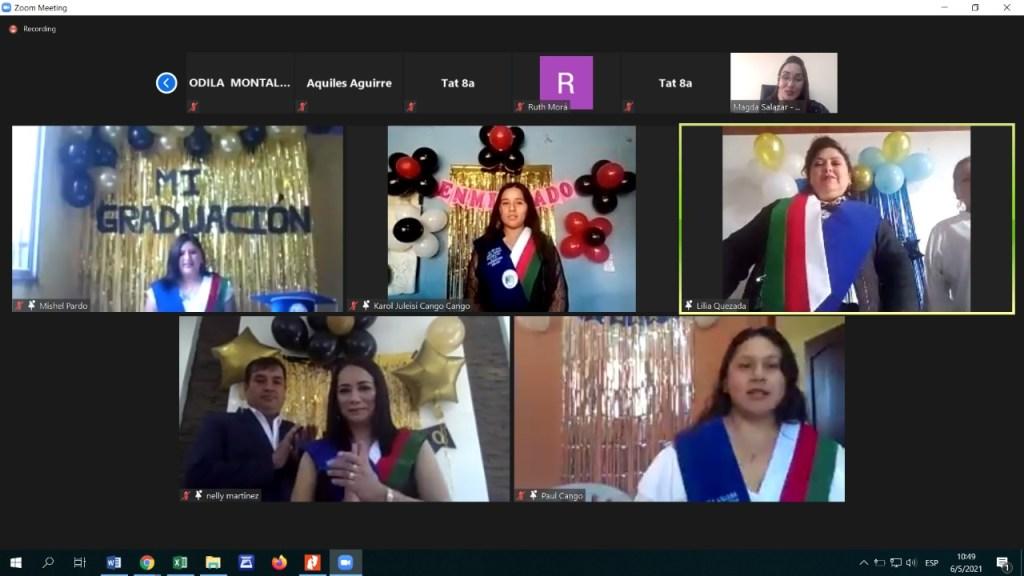 Se cumplió una ceremonia virtual para graduar a los seis alumnos.
