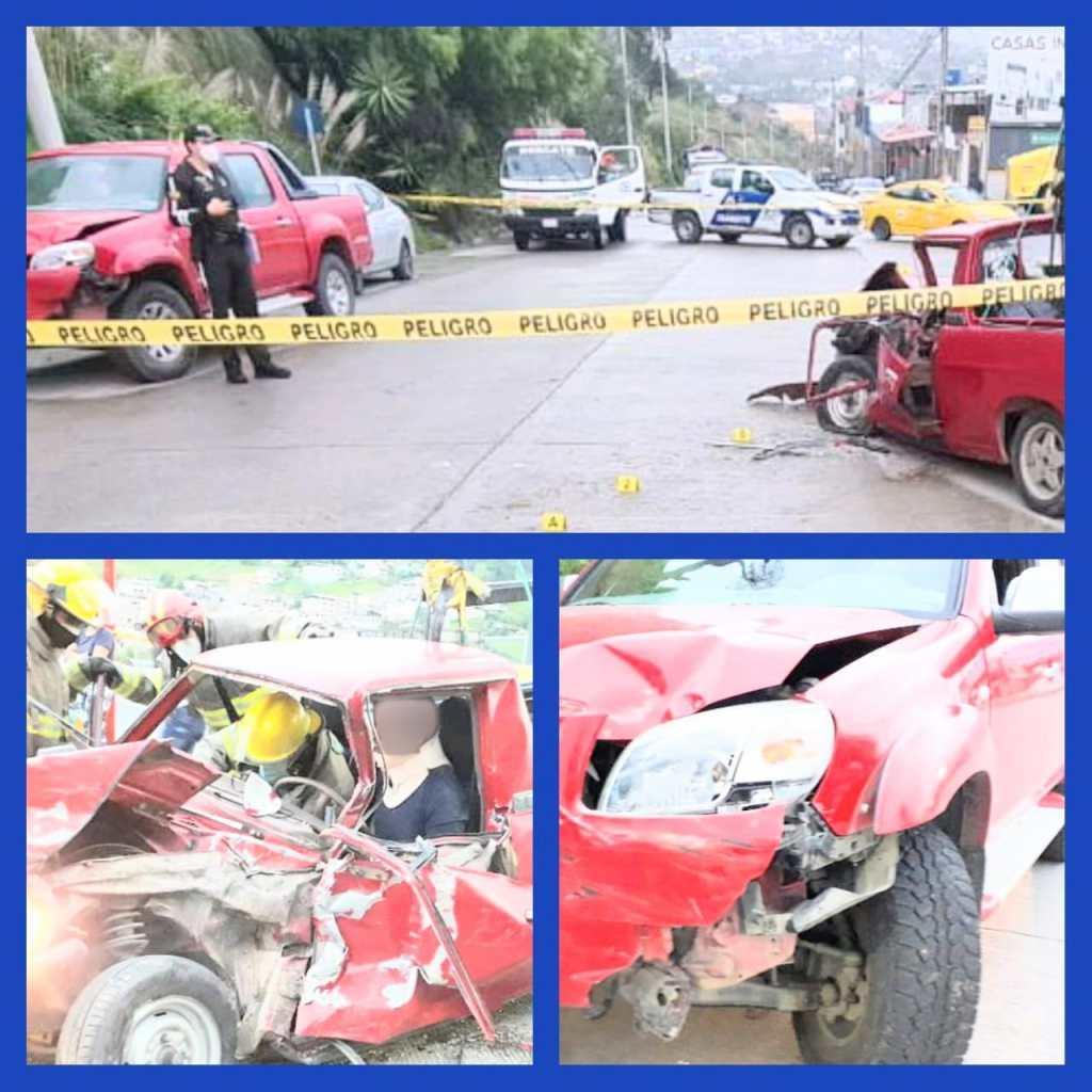 El accidente de tránsito ocurrió ayer a las 05:45.