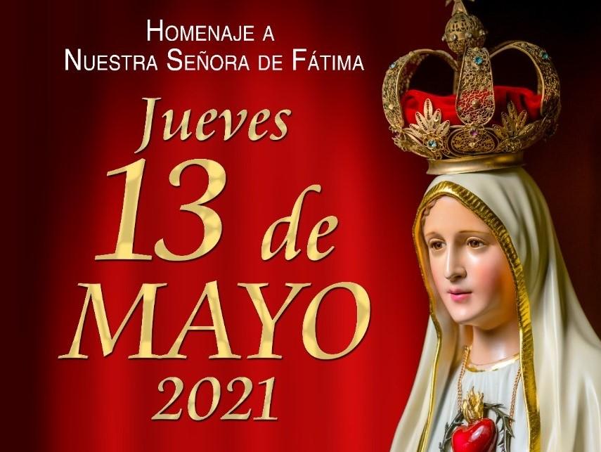 La Virgen permanecerá todo el día en la iglesia de San Francisco.