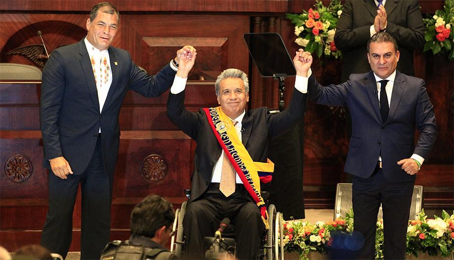 Lenín Moreno Garcés gobernó el país desde el 24 de mayo de 2017. Subió de la mano del expresidente Rafael Correa. (Fotografía cortesía Peru.com)