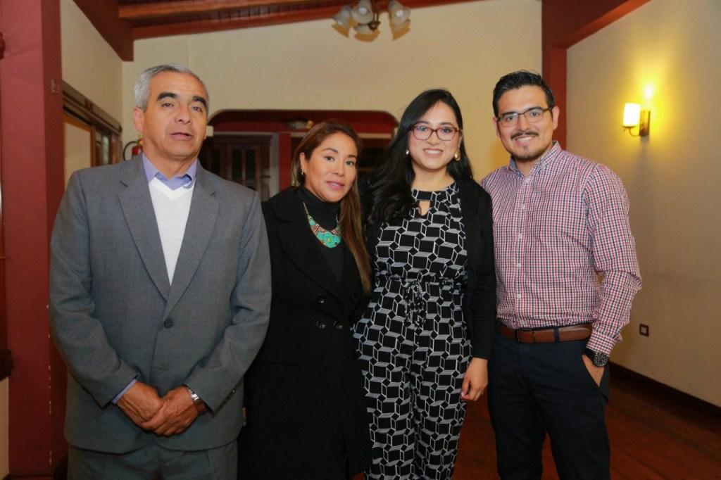 Juan Pineda, Lourdes Vega, Paula González y David González.