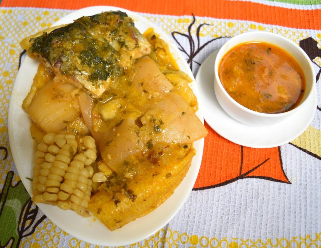 Es uno de los platos típicos del lugar que se presentaron.