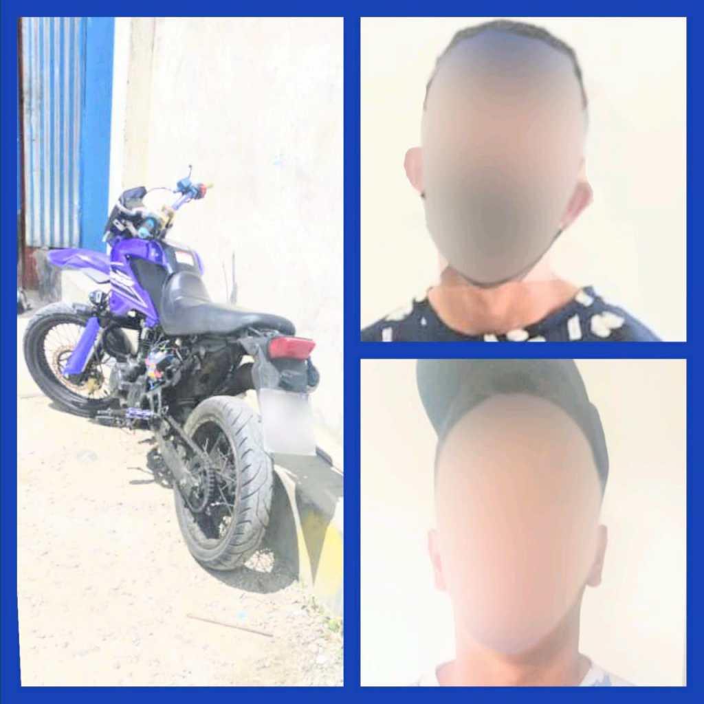 Los dos ciudadanos extranjeros se movilizaban en una motocicleta.