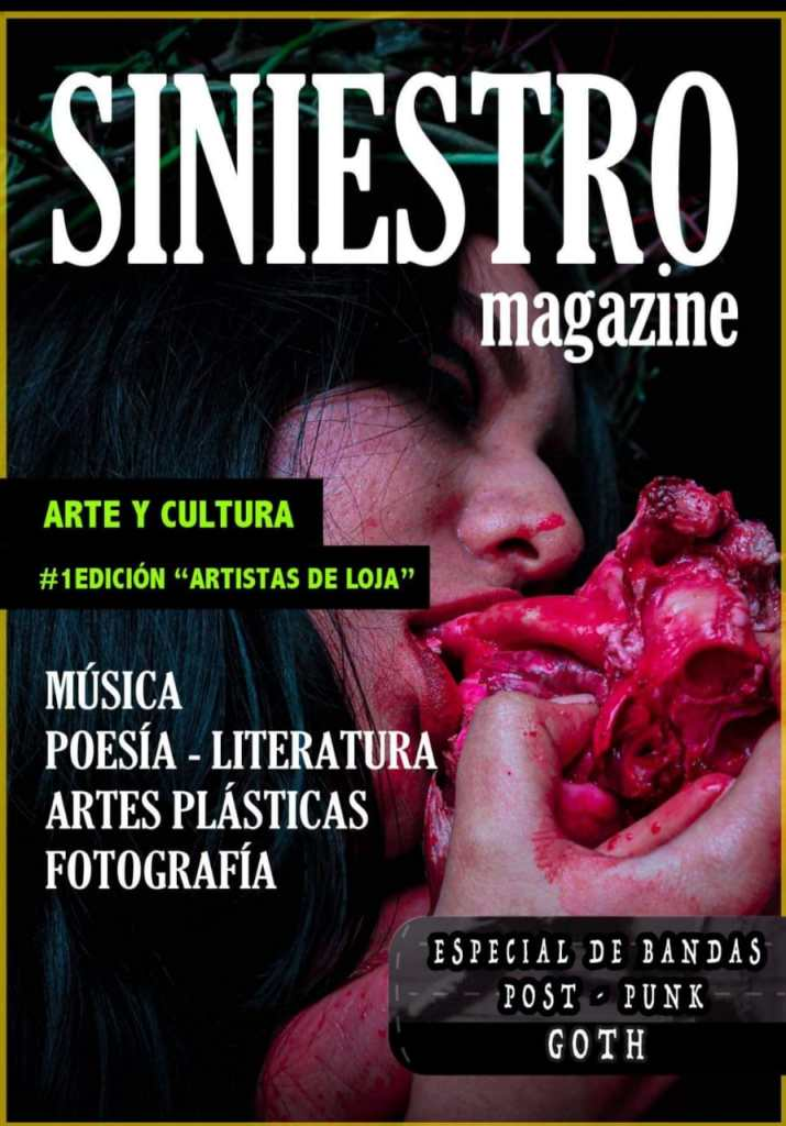 Portada del primer número de 'Siniestro Magazine'.