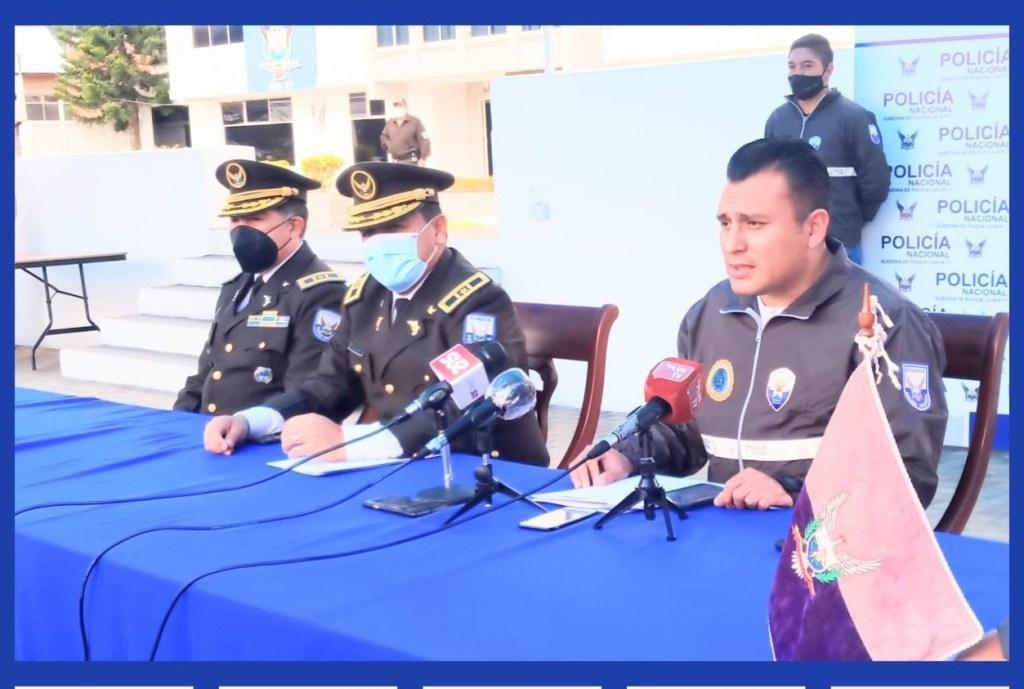 Las autoridades de la Policía de Loja informaron sobre el operativo.