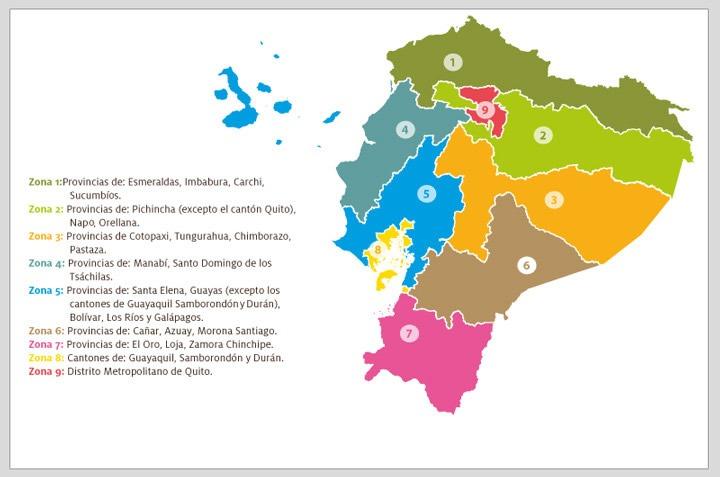 En el país existen nueve zonas de planificación.