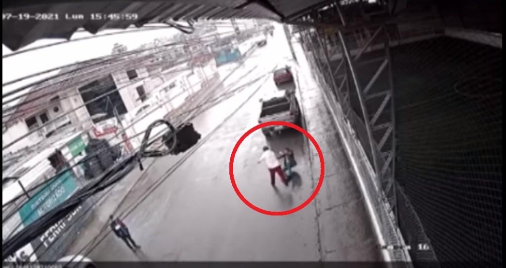En video quedó registrado el incidente.