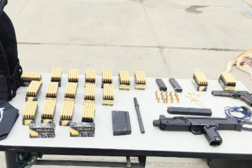 Las armas serían de origen belga y de Argentina.