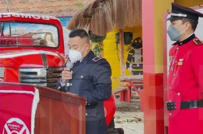 Aníbal Rojas Ochoa, subinspector de la estación norte del Cuerpo de Bomberos de Loja.